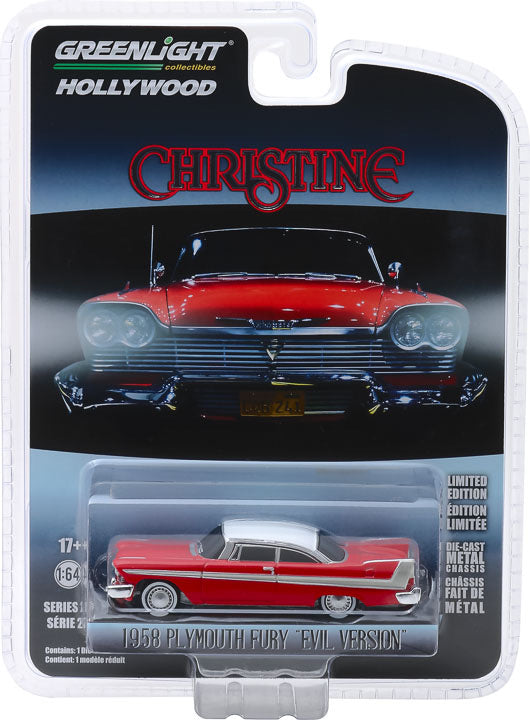 1:64 Christine (1983) - 1958 Plymouth Fury (Evil Version with Blacked Out Windows) Solid Pack