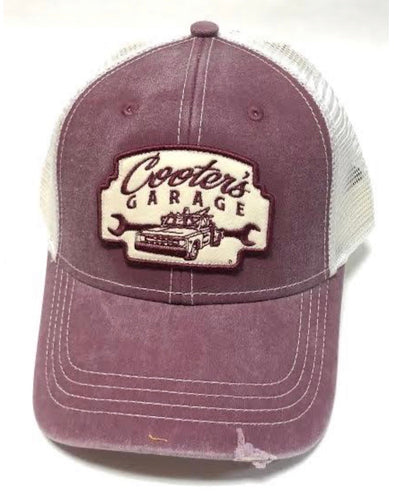 Cooter's Garage Tow Truck Marquee Patch Trucker Hat (White Mesh)