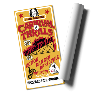 """Carnival of Thrills"" Poster Print"