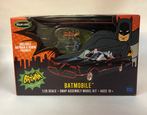 1:25 1966 Batmobile w/Batman & Robin Figures (Model Kit