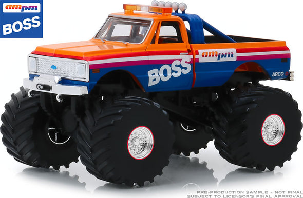 1:43 Kings of Crunch - AM/PM Boss - 1972 Chevrolet K-10 Monster Truck (with 66-Inch Tires)