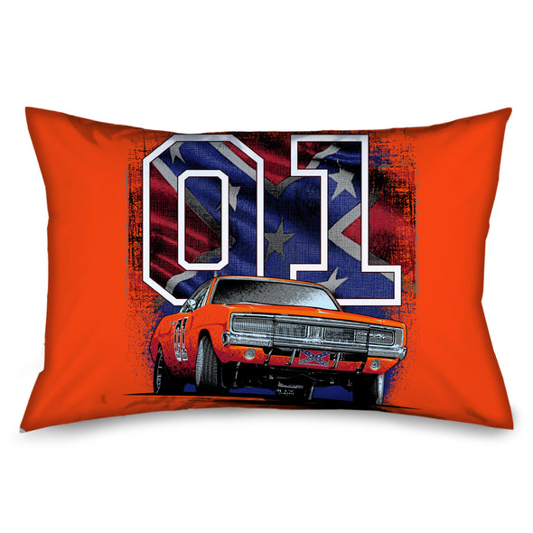 Cooter's General Lee 01 W/ Rebel Flag Pillow Case