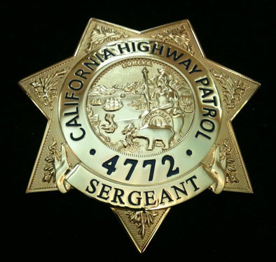 Chips TV Show Replica Badge Sergeant Joesph Getraer #4772