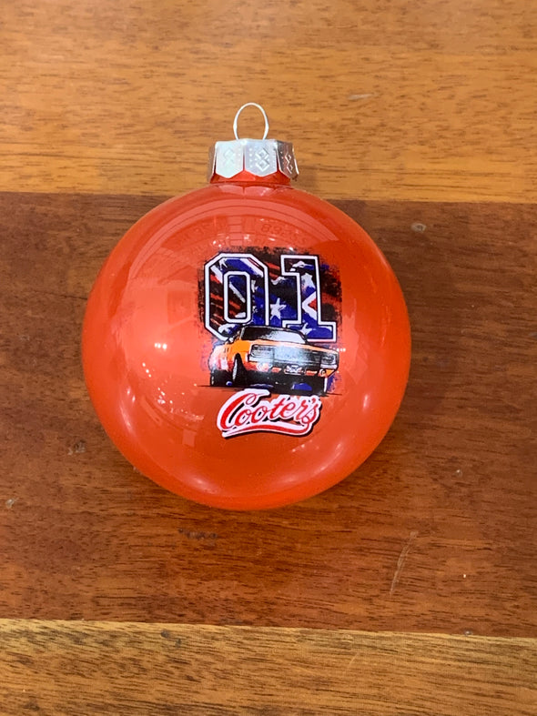Cooter's General Lee W/Rebel Flag 01 Christmas Ornament