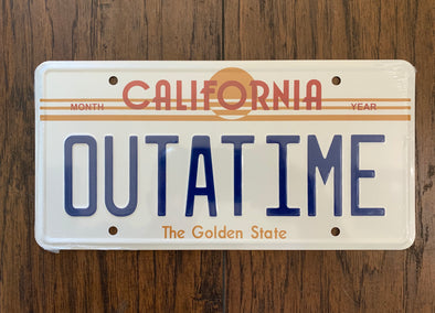 Out a Time License Plate