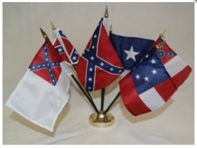 Confederate CSA Desk Flag Set