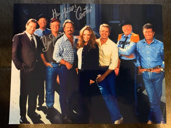 Autographed By Ben Jones Reunion Cast Photo (8x10)