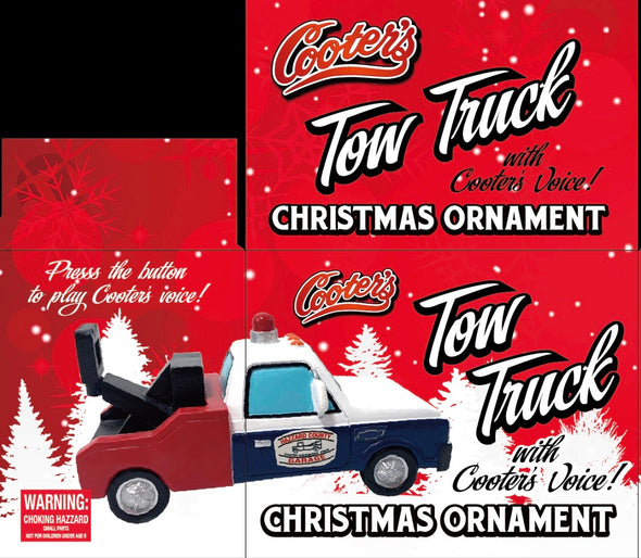 "PRE-ORDER ONLY (December Delivery Expected/Not Guaranteed) Cooter's Tow Truck Christmas Ornament With Sound Button W/Cooter doing ""Breaker One, Breaker One"""