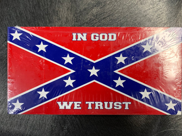 In God We Trust Confederate Bumper Sticker