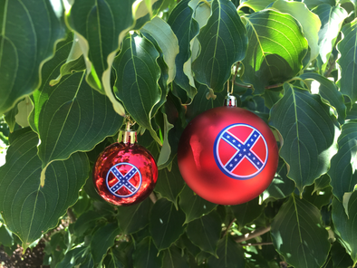 Confederate Flag Christmas Ornament
