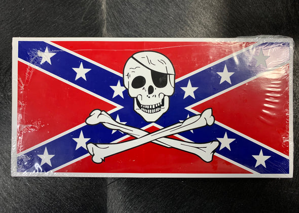 Confederate PIRATE Bumper Sticker