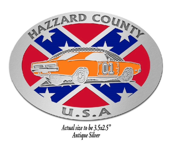 Hazzard County General Lee w/Flag Belt Buckle
