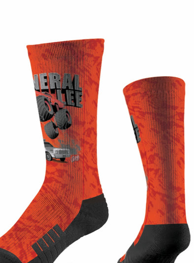 General Lee Monster Truck Socks