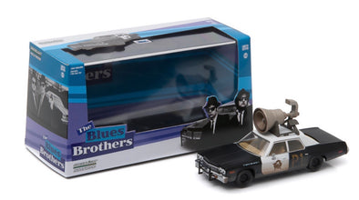 "1:43 Blues Brothers (1980) - 1974 Dodge Monaco ""Bluesmobile"" with Horn on Roof"