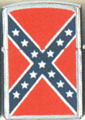 CONFEDERATE FLAG LIGHTER (SILVER)