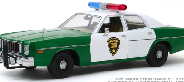 1:64 Scale 1975 Plymouth Fury Chickasaw County Sheriff (Hobby Exclusive) Solid Pack