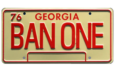 BAN ONE License Plate (Smokey & Bandit Plate)