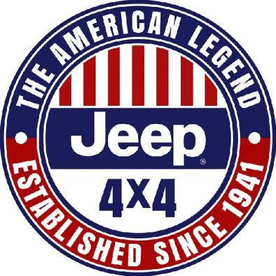 Domed Metal Sign Jeep 4x4 The American Legend