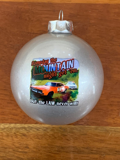 Cooter's Mountain Might Get'em Christmas Ornament