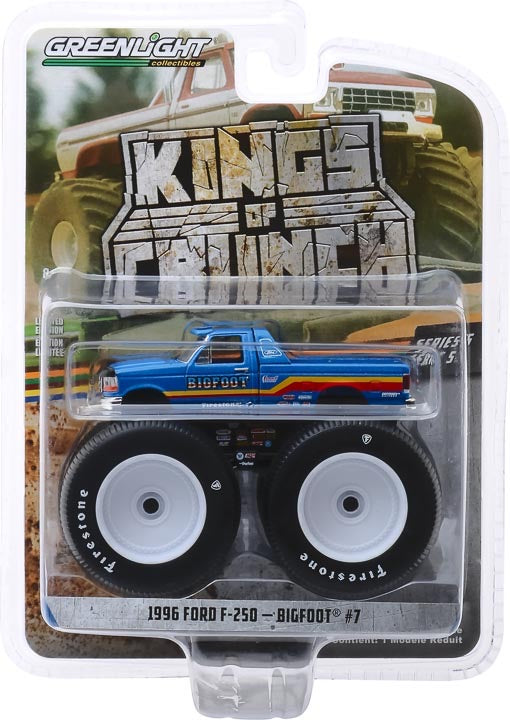 1:64 Kings of Crunch Series 5 - Bigfoot #7 - 1996 Ford F-250 Monster Truck Solid Pack
