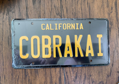 Cobrakai License Plate