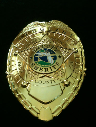 "Dade County (Don Johnson) Sonny Crockett ""Miami Vice"" Badge 80's Tv Show"