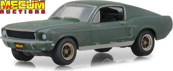 1:64 Mecum Auctions Collector Cars - Unrestored Bullitt 1968 Ford Mustang GT Fastback - Kissimmee 2020 (Hobby Exclusive)