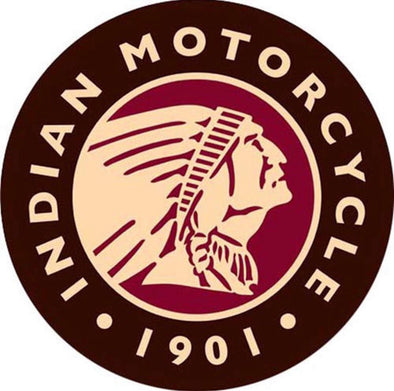 Tin Sign - Indian Motorcycles - 1901 Logo (Round)