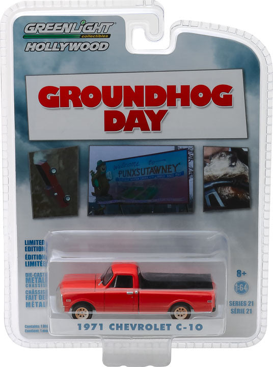 1:64 Hollywood Series 21 - Groundhog Day (1993) - 1971 Chevrolet C-10 Solid Pack