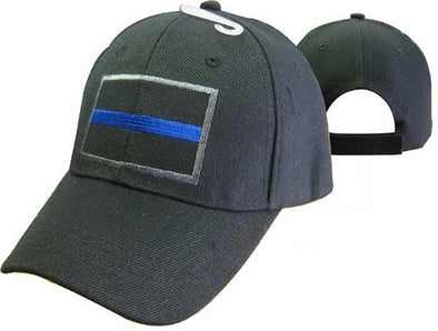 Blue Line Embroidered Hat