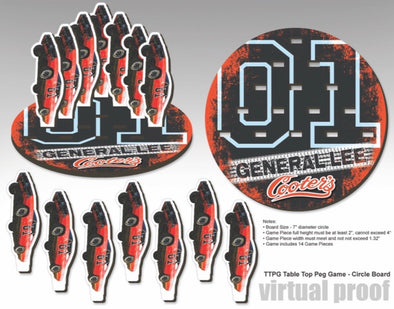 Cooter's General Lee Peg Game Set