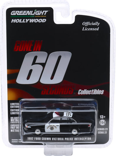 1:64 Hollywood Series 27 - Gone in Sixty Seconds (2000) - 1992 Ford Crown Victoria Police Interceptor - California Highway Patrol Solid Pack