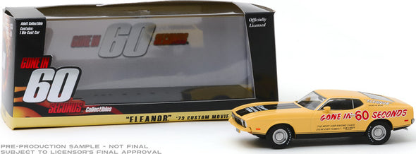 "1:43 Gone in Sixty Seconds (1974) - 1973 Ford Mustang Mach 1 ""Eleanor"" (Post-Filming Tribute Edition)"