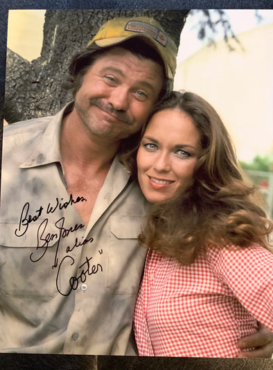 "Autographed Ben Jones aka ""Cooter"" with ""Daisy"" Catherine Bach Photo (8x10)"