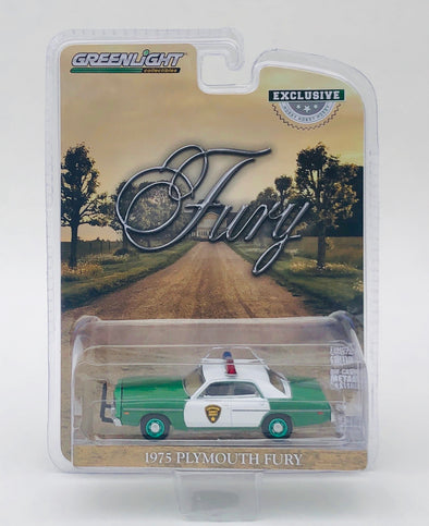 GREENIE 1:64 Scale 1975 Plymouth Fury Chickasaw County Sheriff (Hobby Exclusive) Solid Pack