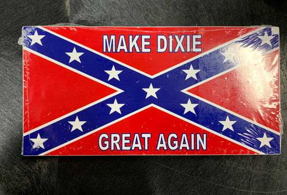 Confederate Make Dixie Great Again Bumper Sticker