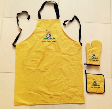 GADSDEN LOGO (YELLOW) APRON,HOT PAD & GLOVE 3-PIECE SET