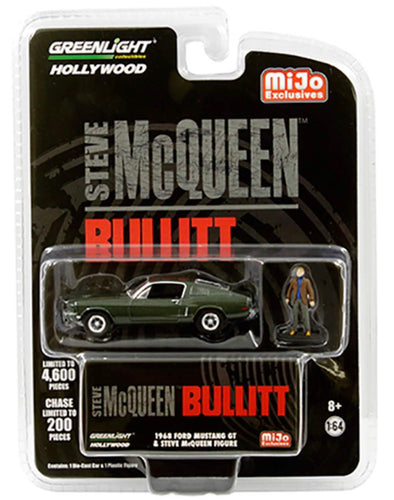 1:64 Hollywood - Bullitt 1968 Ford Mustang GT with Steve McQueen Figure