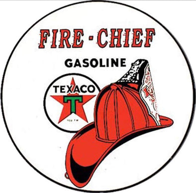 Tin Sign - Texaco Fire Chief (Round)