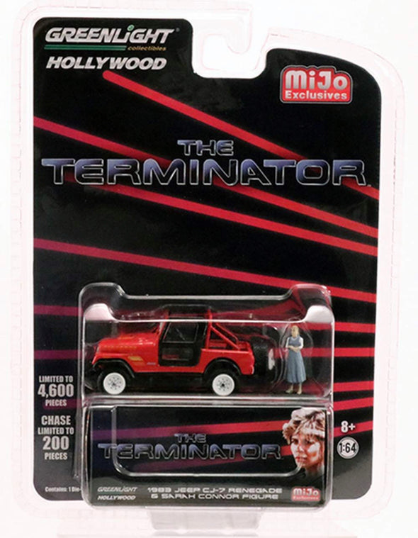 1:64 The Terminator (1984) - Sarah Connor's 1983 Jeep CJ-7 Renegade w/Sarah Connor Figure