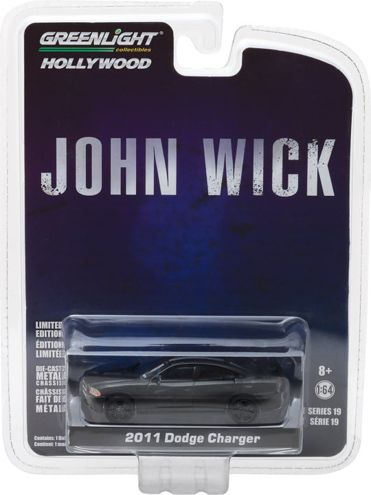 1:64 Hollywood Series 19 - John Wick (2014) - 2011 Dodge Charger SXT Solid Pack