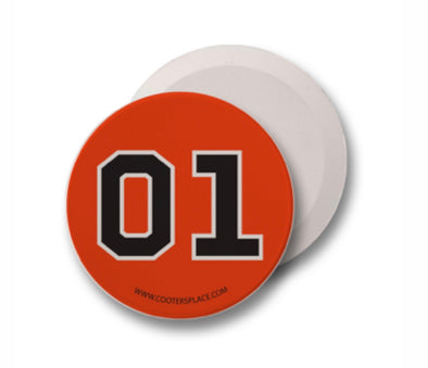 Orange 01 Car Absorbent Coaster