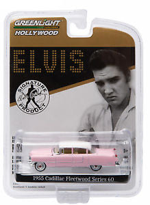 1:64 Elvis 1955 Pink Cadillac Fleetwood Series 60 Solid Pack
