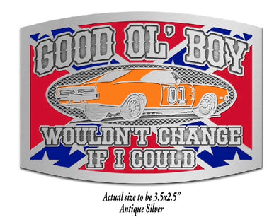 Rebel General Lee Belt Buckle