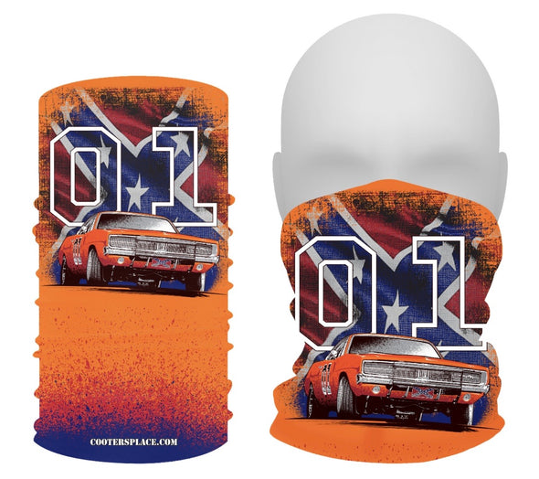 General Lee W/Flag GAITER Face Shield Made in 🇺🇸
