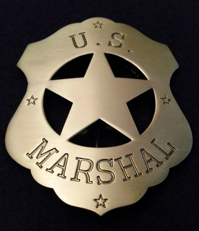 "Marshal Dillion ""Gunsmoke"" U.S. Marshal Prop Replica Badge"