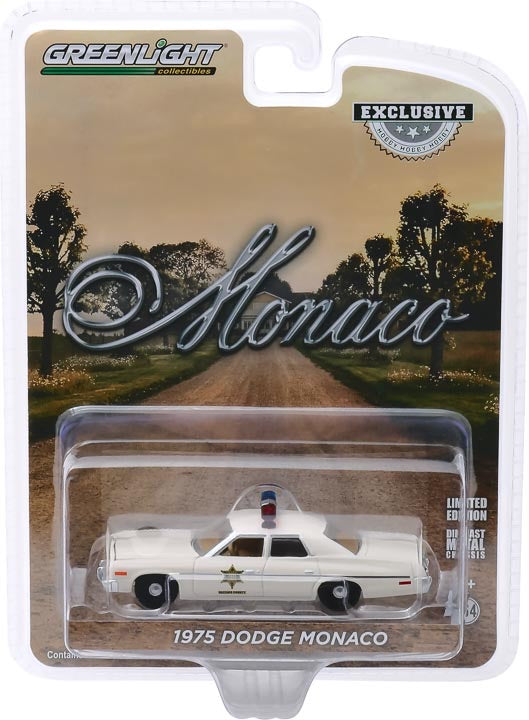 1:64 Scale Hazzard County Sheriff Car - 1975 Dodge Monaco (Hobby Edition)