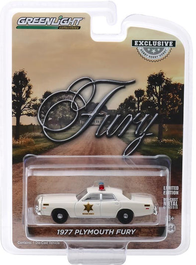 1:64 Hazzard County Sheriff Car - 1977 Plymouth Fury