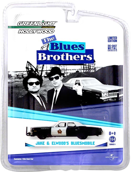 "1:64 Blues Brothers (1980) - 1974 Dodge Monaco ""Bluesmobile"" Solid Pack"