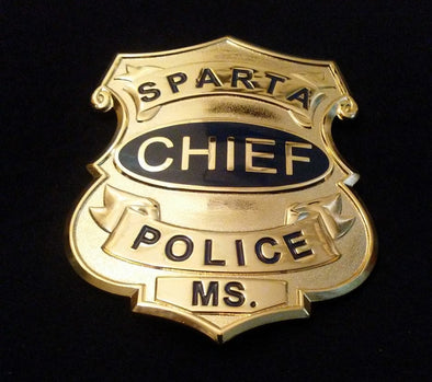 """In the Heat of the Night"" Bill Gillespie (Carol O'connor) Police Chief Prop Replica Badge"